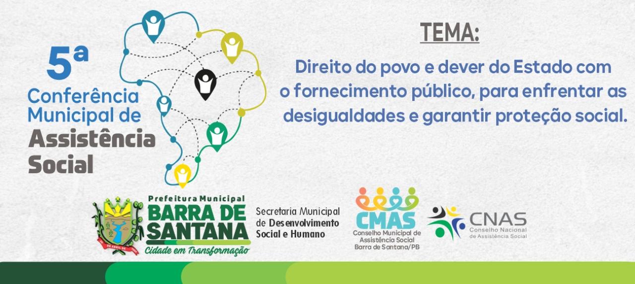 V Conferência Municipal de Assistência Social - Barra de Santana/PB