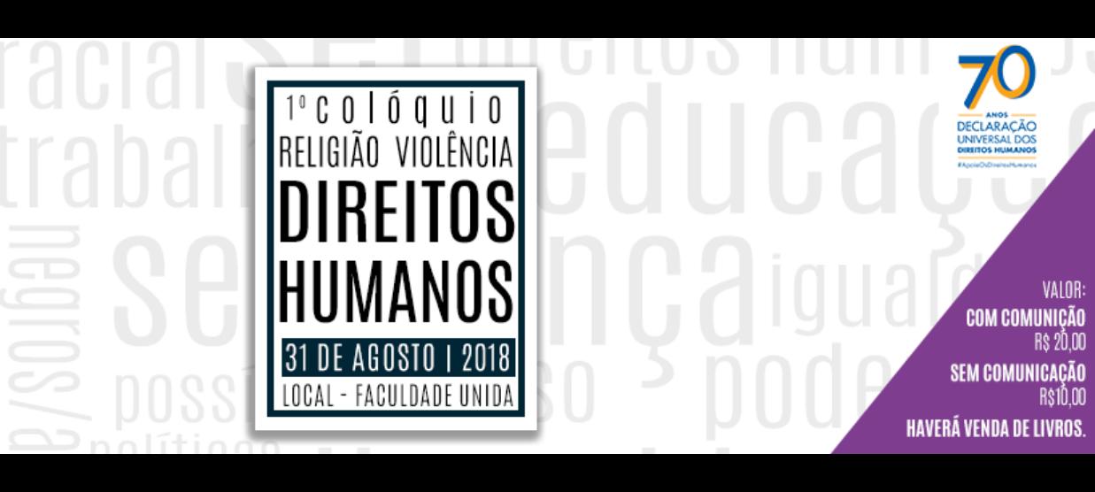 1º Colóquio Religião, Violências e Direitos Humanos do Grupo REGEVI