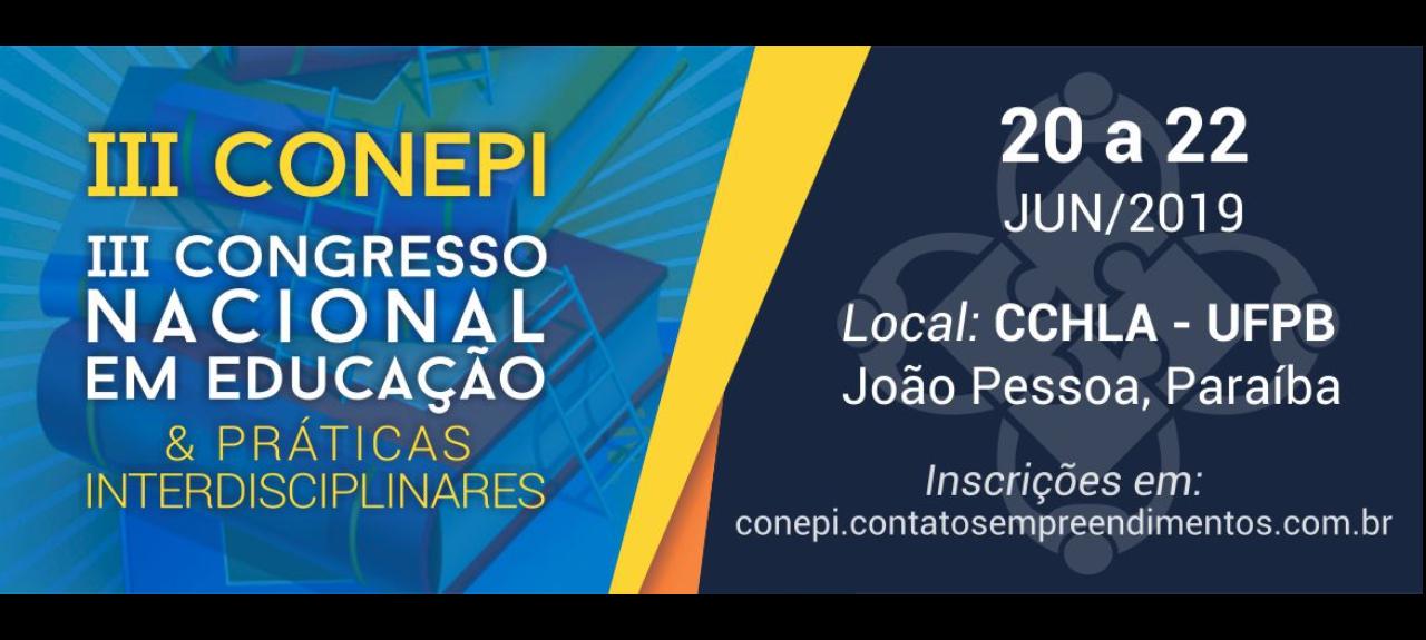 III CONEPI - Congresso Nacional em Educação e Práticas Interdisciplinares
