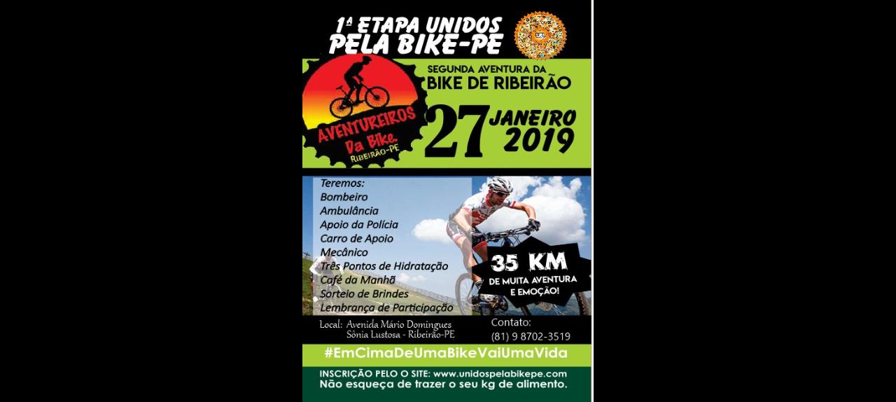 1ª ETAPA UNIDOS PELA BIKE-PE / RIBEIRÃO-PE - 2019