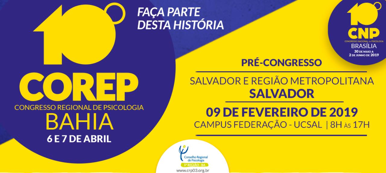Pré-Congresso de Psicologia de Salvador e Região Metropolitana