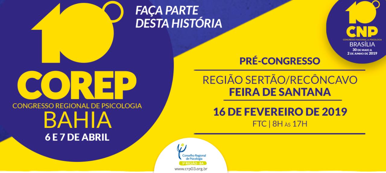 Pré-Congresso de Psicologia da Região Sertão/Recôncavo