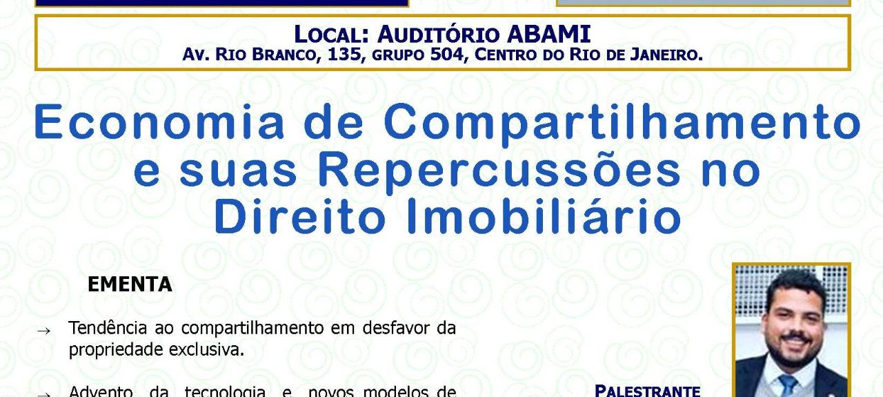 TERÇA JURÍDICA - Economia de Compartilhamento e suas Repercussão no Direito Imobiliário