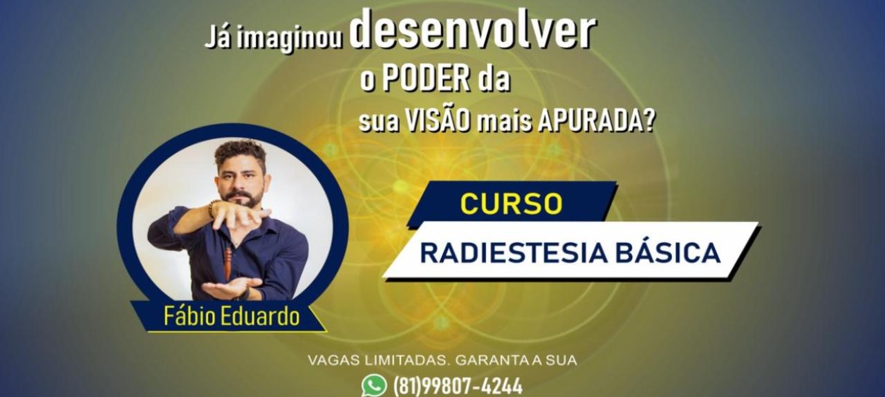 CURSO DE RADIESTESIA BÁSICA COMO USAR SEU PODER