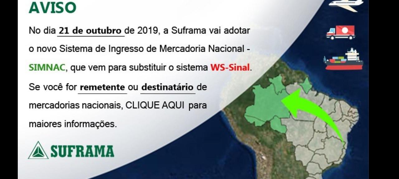 Apresentação do Sistema de Internamento de Mercadoria Nacional - SIMNAC