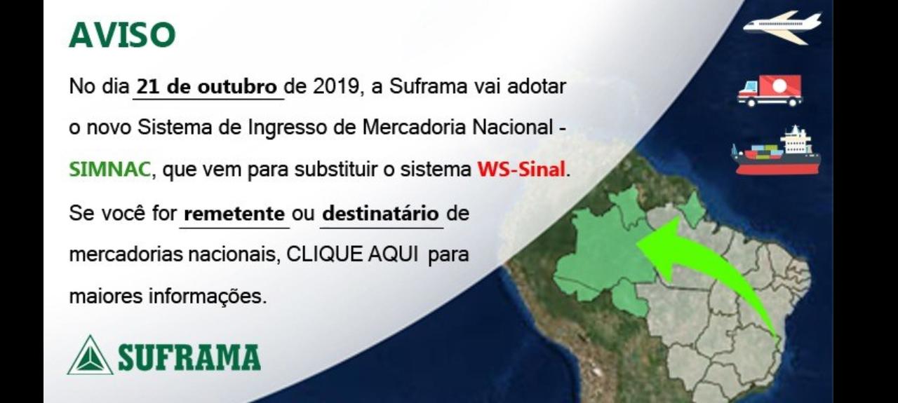Apresentação do Sistema de Internamento de Mercadoria Nacional - SIMNAC - VILHENA