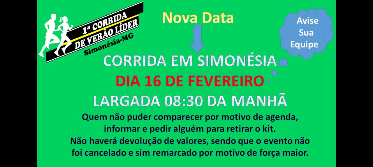 1º CORRIDA DE VERÃO LÍDER