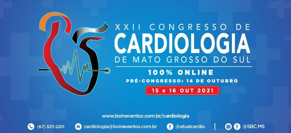 XXII CONGRESSO DE CARDIOLOGIA DE MS | 100% ONLINE