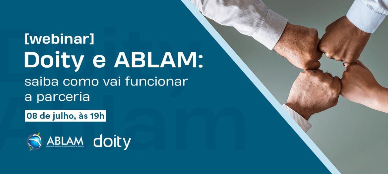 [WEBINAR] Doity e ABLAM: saiba como vai funcionar a parceria
