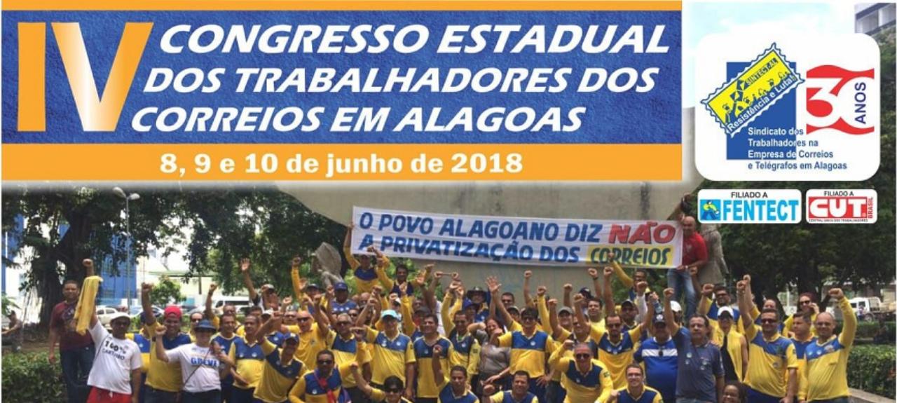 IV Congresso Estadual dos Trabalhadores dos Correios em Alagoas