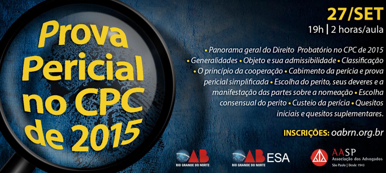 PROVA PERICIAL NO CPC DE 2015